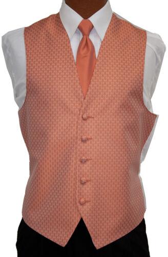 3X-Large Mens Tangerine Rapture Fullback Wedding Prom Formal Tuxedo Vest /& Tie