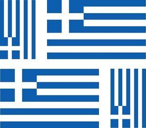 4-x-Aufkleber-Auto-Sticker-motorrad-Autoaufkleber-Fahne-Flagge-Griechenland