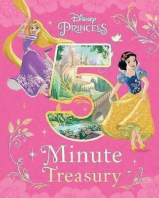 """AS NEW"" Parragon Books Ltd, Disney Princess 5-Minute Treasury, Hardcover Book"