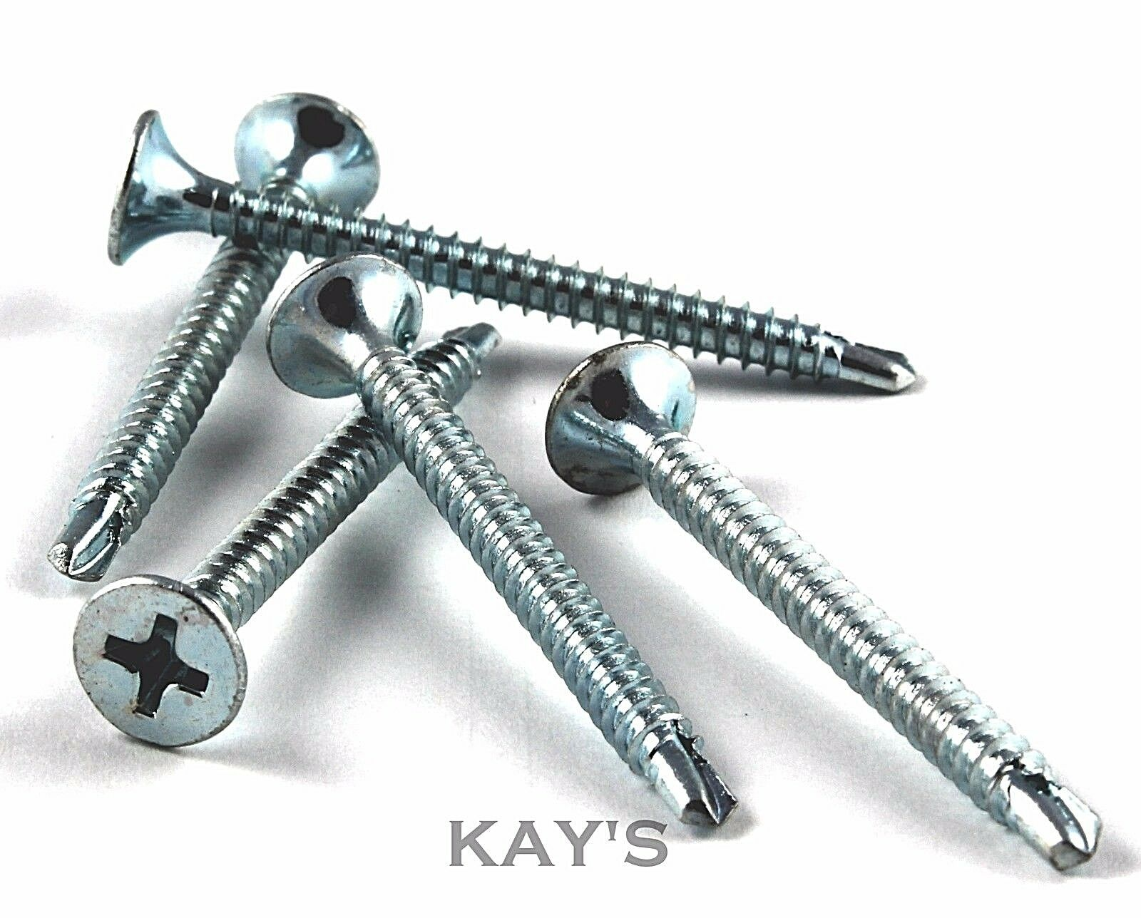 SELF DRILLING PLASTERBOARD SCREWS, DRYWALL DRYLINING METAL/WOOD PARTITIONS ZINC