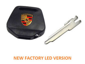 PORSCHE 911 964 KEY HEAD WITH BLANK and BRIGHT LED LIGHT 1989-1994 BRAND NEW