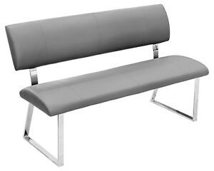 Image Is Loading GREY BENCH DINER SEAT TRIPLE SEAT DINING BENCH