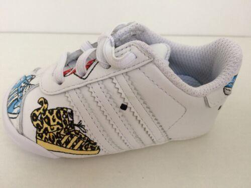 REGNO Unito misura 2k di Adidas Originals Jeremy Scott Infant Neonato Scarpe da ginnastica.