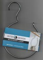 Interdesign Over Rod Accessory Loop Closet Chrome Belt Ring Hanger Organizer