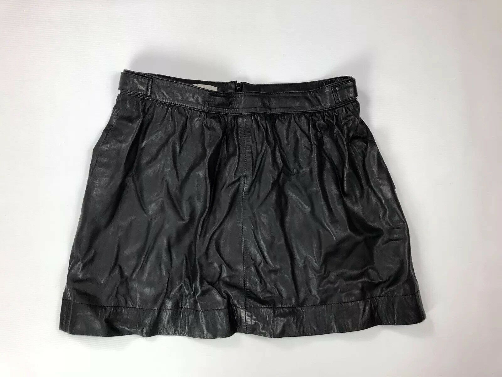HOBBS Leather Skirt - UK14 - schwarz - Great Condition - damen's