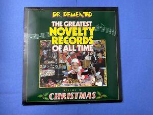 DR-DEMENTO-Greatest-Novelty-Records-Vol-6-CHRISTMAS-LP-Vinyl-Record-1985-Rhino