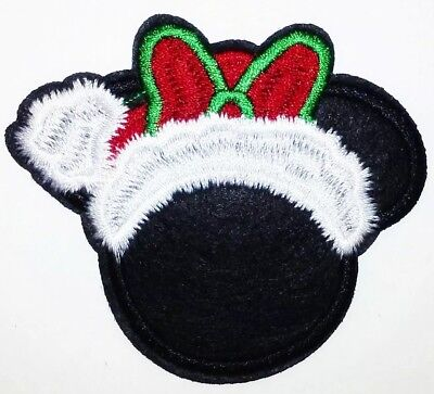 Santa Mickey Mouse Patch Santa Suit /& Hat Embroidered Iron On Applique 2.75/""