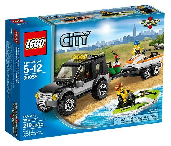 LEGO ® City 60058 véhicule tout-terrain  BATEAUX NEUF _ suv with watercraft New MISB