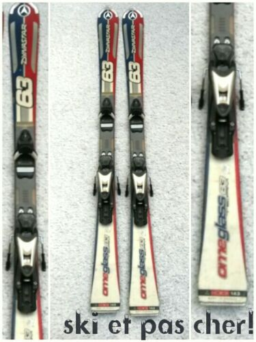 """ski occasion DYNASTAR 63  /""""OMEGLASS/"""" tailles:143cm fixations"""