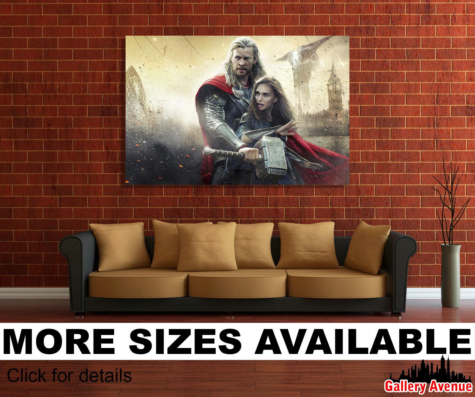 Wall Art Canvas Picture Print - Thor Chris Hemsworth and Natalie Portman 3.2