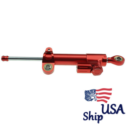 USA CNC Steering Damper Motorcycle Stabilizer Linear Safety Control Universal
