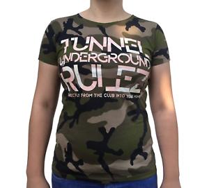Tunnel-Shirt-034-UNDERGROUND-RULEZ-034-Camouflage-Girls-Groesse-M