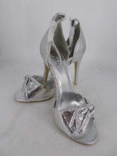 Ln41 40 77 Uk Chic Ankle 7 Eu Sandals Crinkle Strap Ladies Silver ZOvwv4qFz