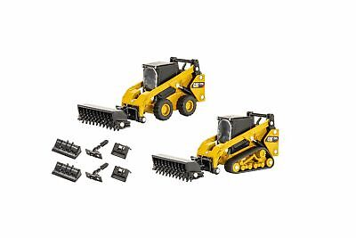 CAT 1:64 Skid Steer Loader /& Compact Track Loader with accessories Diecast 85609
