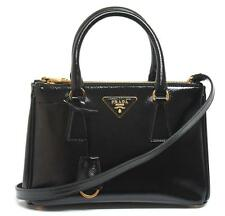 New $2230 Prada Saffiano Vernic Small Double-Zip Messenger Bag