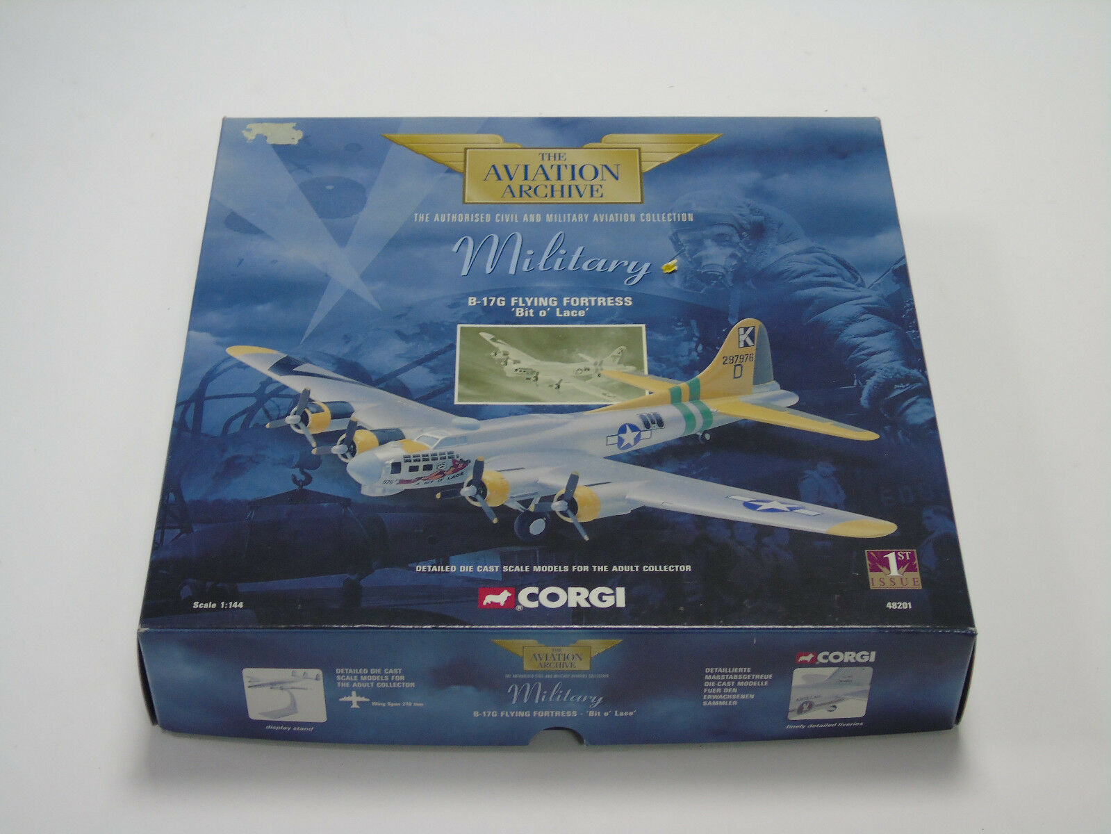 AA48201 Corgi 1 144 Scale B-17G Flying Fortress Bit o' Lace 1st Issue New Boxed