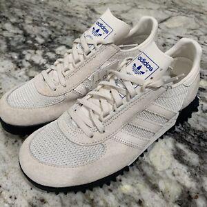 ética Emborracharse carbohidrato  Adidas Marathon TR Nubuck and Mesh Trainers Chalk White Black Shoes Men's  Sz 5 | eBay