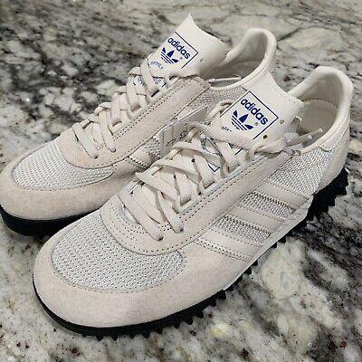 ética Emborracharse carbohidrato  Adidas Marathon TR Nubuck and Mesh Trainers Chalk White Black Shoes Men's  Sz 5   eBay