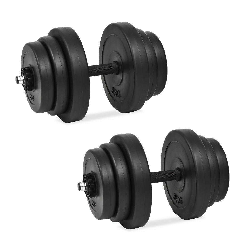 VidaXL Juego de Mancuernas Pack de 18 Piezas 40kg Fitness Musculación Gimnasio