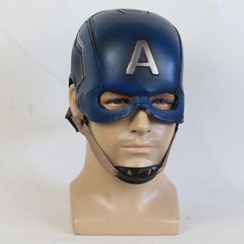 Halloween The Avengers Captain America Steven PU Mask Helmet Soft Mask COS Props