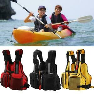 Adults Life Jacket Aid Vest w/ Whistle for Swimming Fishing Float Kayak Buoyancy