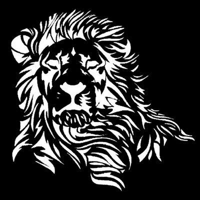 Wild Mighty Lion For Auto Car//Window Vinyl Decal Sticker Decals Decor CT085