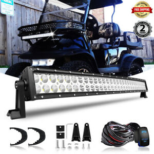Details About For Ezgo Txt Golf Cart 32 5 Led Light Bar W Upper Roof Low Bumper Lamp Wiring