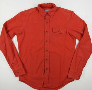 GANT Stockbridge Michael Bastian Red Chamois Cotton Flap Pocket Shirt Ms S Red