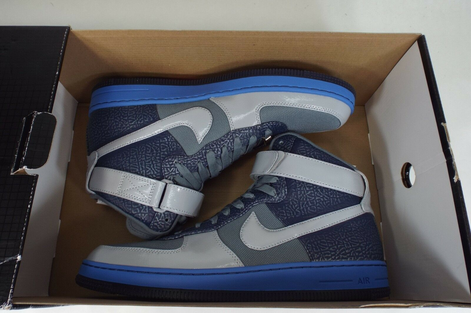New homme 9.5 NIKE AF1 Downtown HI Basketball  Gris  Navy Basketball HI chaussures 145 574887-001 c0b5b5