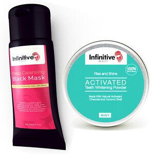 Infinitive-Beauty-ANTRACITE-Blackhead-NERO-Peel-Maschera-amp-Sbiancamento-polvere