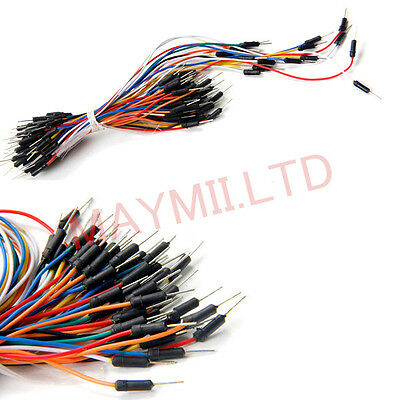 Male to Male Solderless Flexible Breadboard Jumper Cable Wires 65Pcs Arduino MI