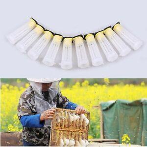 10Pcs Plastic Queen Bee Cages Isolator Rearing Beekeeper Beekeeping Tools TW