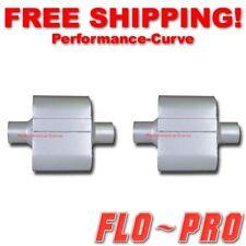"Pair of Single Chamber Performance Race Mufflers FLO-PRO 2.5"" / 2.5""  - V425109"