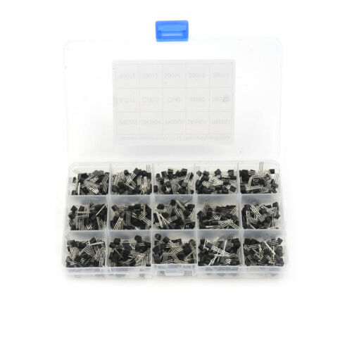 //set Transistor TO-92 Assortment Box Kit LA New 600Pcs 15 Value x 40 Pcs