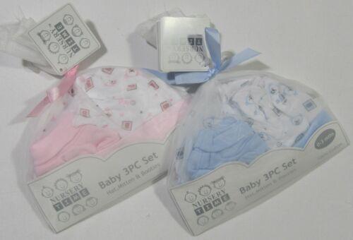 Bébé Bébés Garçons Filles Cadeau Set Vêtements 3 Pièces Coton Chapeau moufles chaussons 0-3