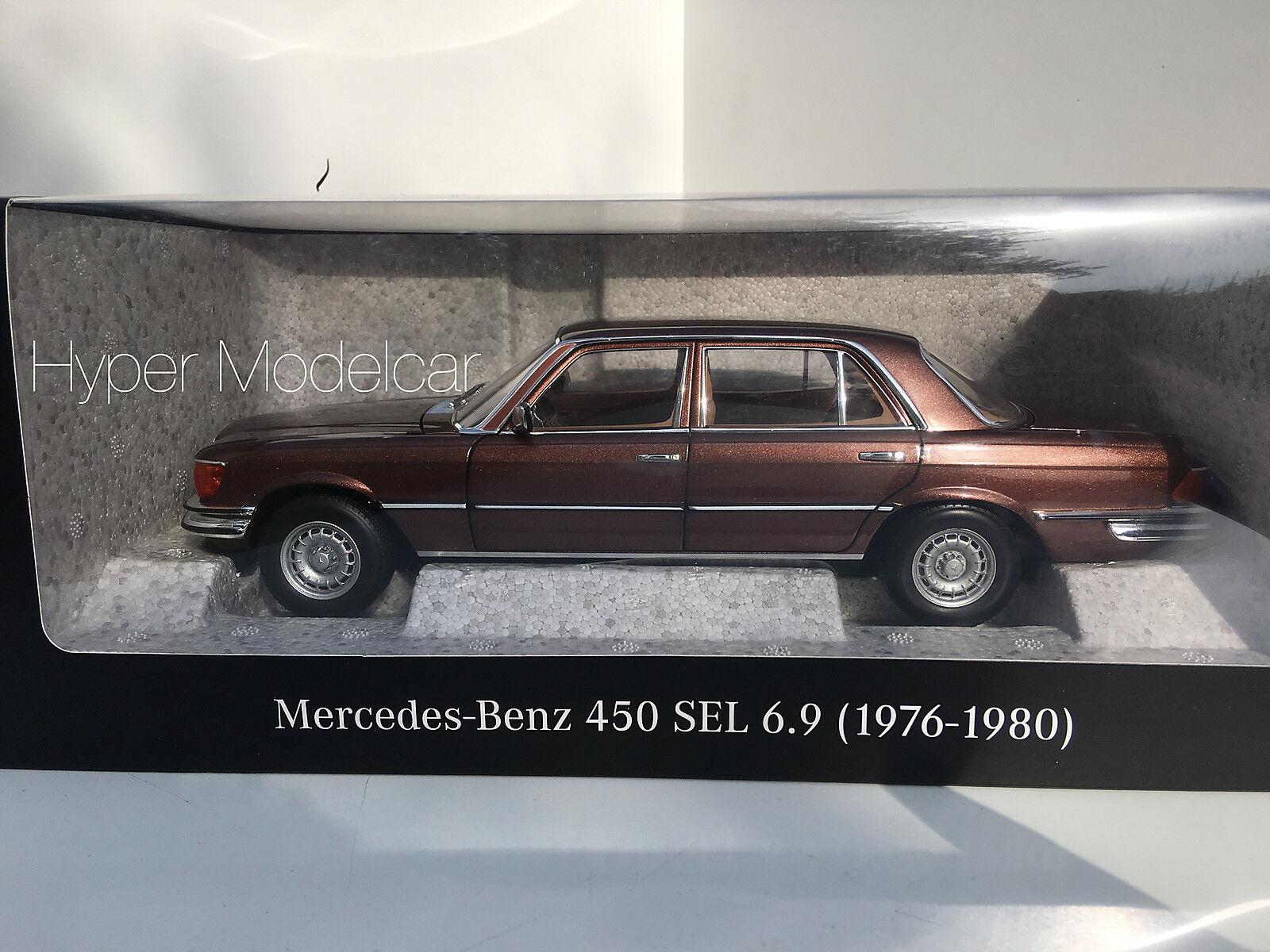 Norev 1 18 MERCEDES BENZ S-KLASSE 450 Sel 6.9 (W116) 1976 Bronze Met. B66040643