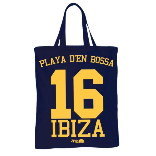 Playa den Bossa Ibiza Beach Bag Tote Shopping Bag Navy Lost in Summer Beach 16