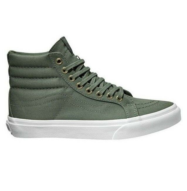 VANS Sk8 Hi Slim (gold Eyelets) Laurel Wreath True White Green WOMEN'S 9.5