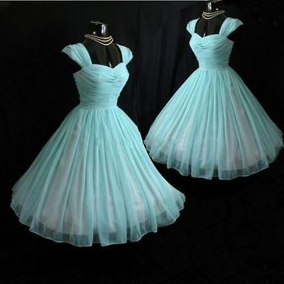 Vintage 1950\u0027s Wedding Evening Dresses Tea Length Cocktail Prom Party Gowns  6404692351428