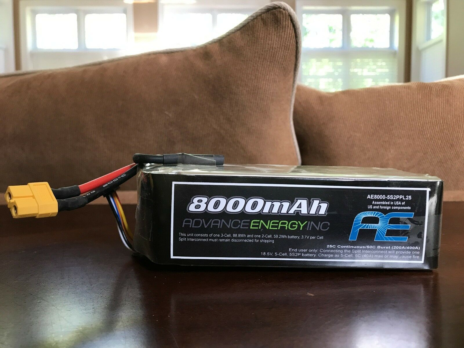 8000mah advanced energy inc (aka donner tiger 25c 5er 18.5v lipo akkus