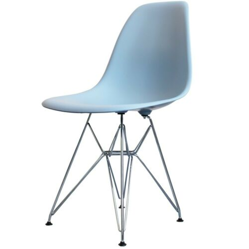 Blue Eiffel Style Plastic Retro Side Chair - 4 Leg Options/Free UK Delivery