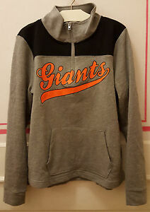 watch c56bf 61a24 Details about Victoria's Secret SF GIANTS San Francisco Perfect Quarter Zip  Sweatshirt PINK