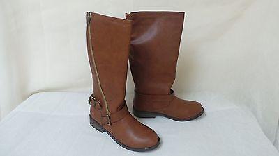 New Girls Youth Sarah Jayne Rockit Boots Style 01124310 Cognac W63 rt