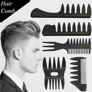 Styling-Hairdressing-Tool-Durable-Barber-Shop-Hair-Brush-Fork-Comb-Wide-Teeth