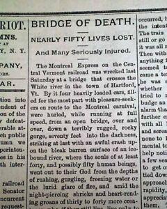 VERMONT-CENTRAL-RAILROAD-West-Hartford-VT-Train-Wreck-Disaster-1887-Newspaper