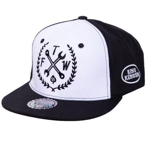 King Kerosin Rockabilly Vintage Flex Cap Basecap Mütze Kappe FTW Schwarz