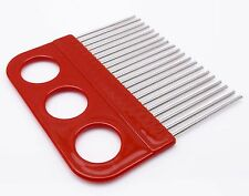 Red Holder Carding Quilling Comb Paper Craft Tool Accessories 20 Pins 1 Piece