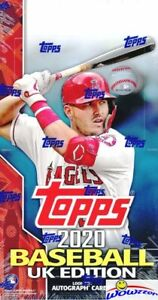 2020 Topps Baseball UK EDITION EXCLUSIVE HUGE Factory Sealed HOBBY Box-240 Cards