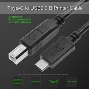 USB 2.0 Printer Cable A B Male Type for Dell HP Canon Dell Lexmark Brother Epson