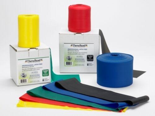 THERA-BAND ® latexfrei  2,5 m grün Gymnastikband Theraband NEU für Allergiker